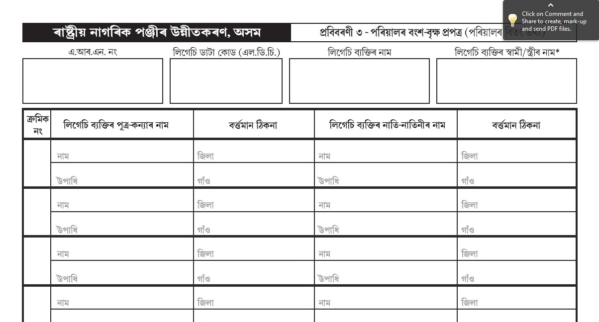 Office Of The State Coordinator Of National Registration Nrc Assam